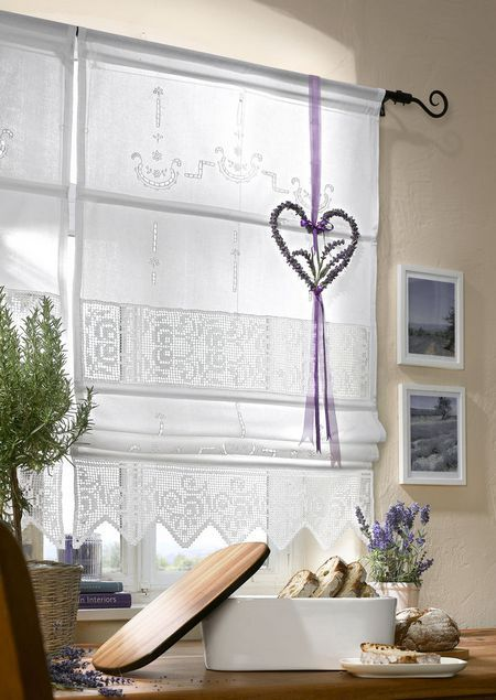 Raffrollos landhausstil szukaj w google windows pinterest raffrollos kleine fenster und - Fenster landhausstil ...