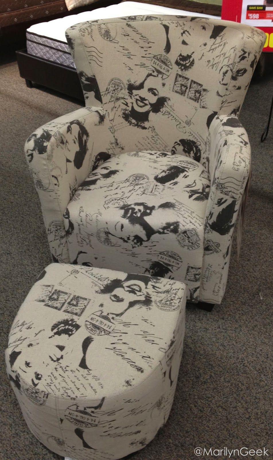 White Bedroom Set The Marilyngeek Blog Marilyn Monroe Chair And Ottoman