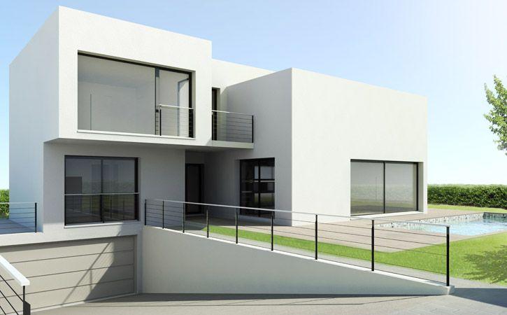 Tekart Architecture Maison contemporaine dans le Val-de-Marne - maisons plain pied plans gratuits