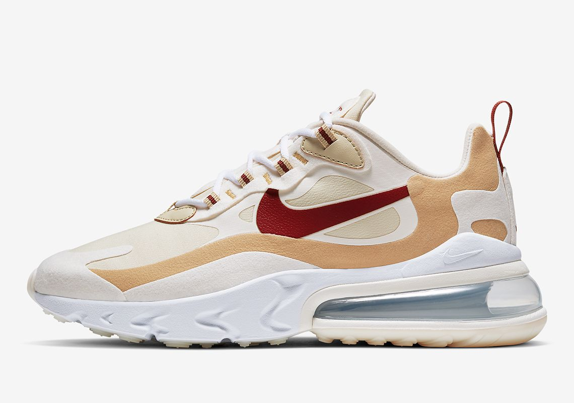 Nike Air Max 270 React Red Beige At6174 700 Sneakernews Com Nike Air Max Sneakers Nike Air Max Womens Sneakers
