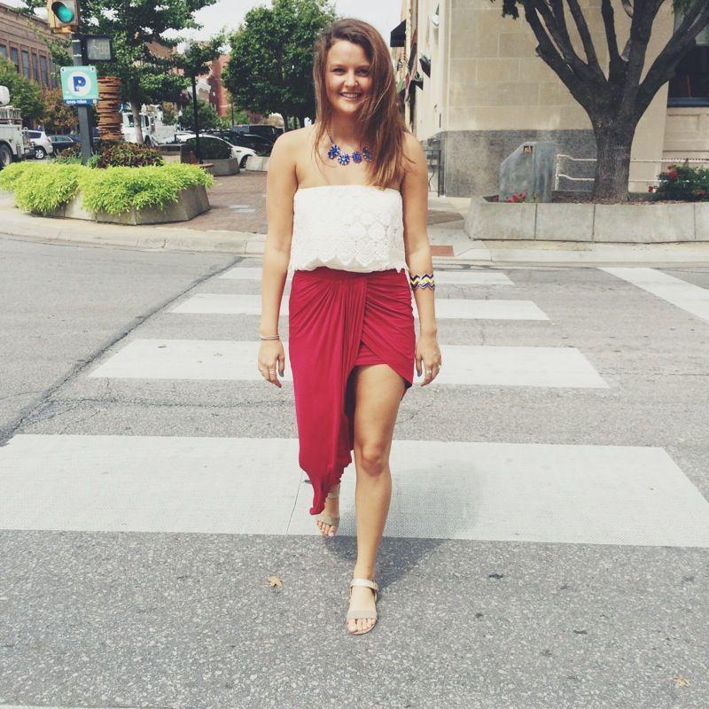 loving this asymmetrical skirt
