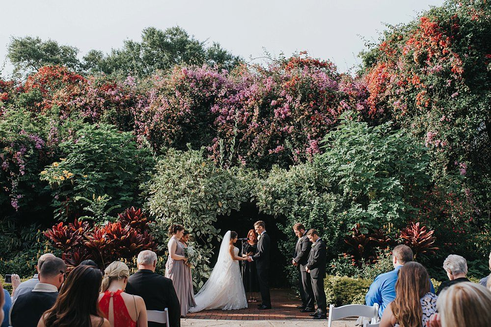 Elegant and Romantic Sunken Gardens Wedding St. Pete