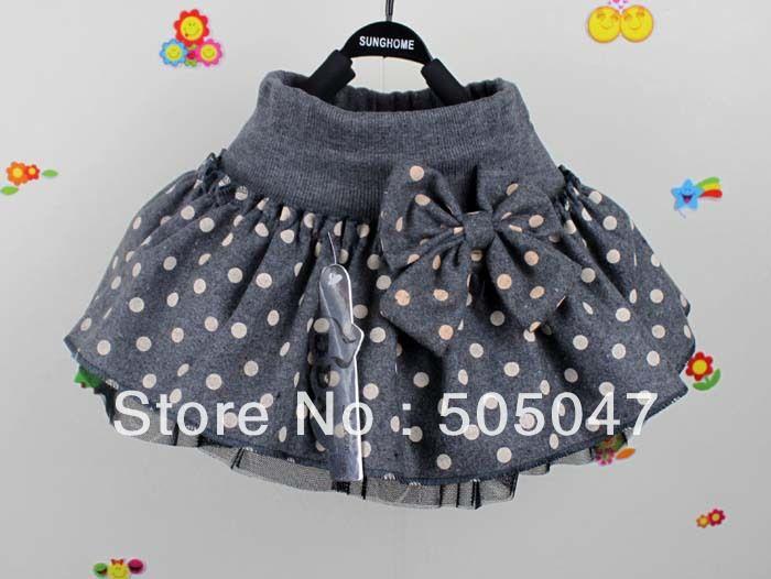 Vente 2013 chaude ! Princesse Above Knee Mini Skirt de jupe de tutu de l'arc du nouvel de mode de bébés de