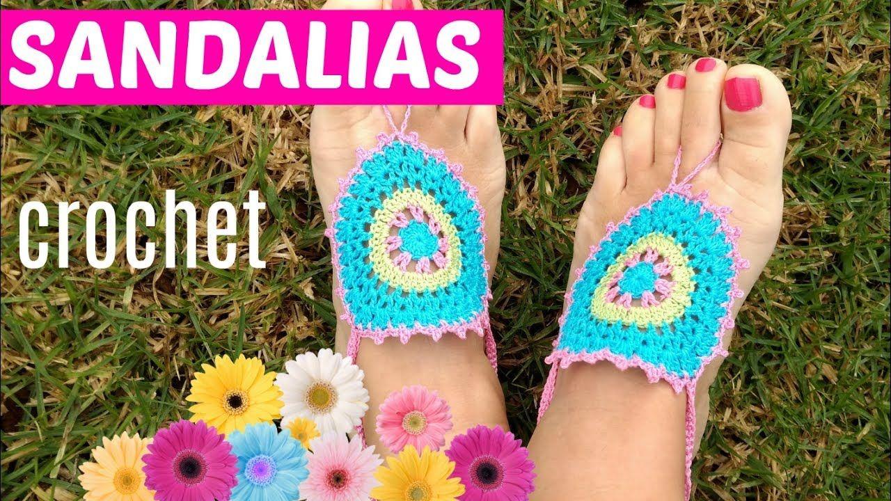 Hoy te comparto tutorial para tejer sandalias playeras a crochet ...