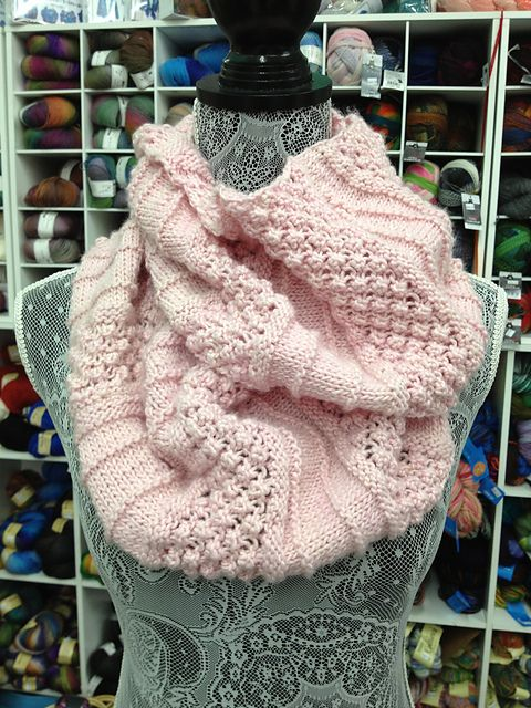 This is the Empalme Cowl pattern from Manos del Uruguay, knit with ...