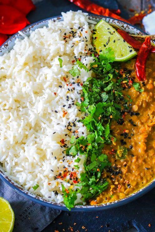 Rezept für Indisches Linsen Dal mit Jasmin Reis #menus