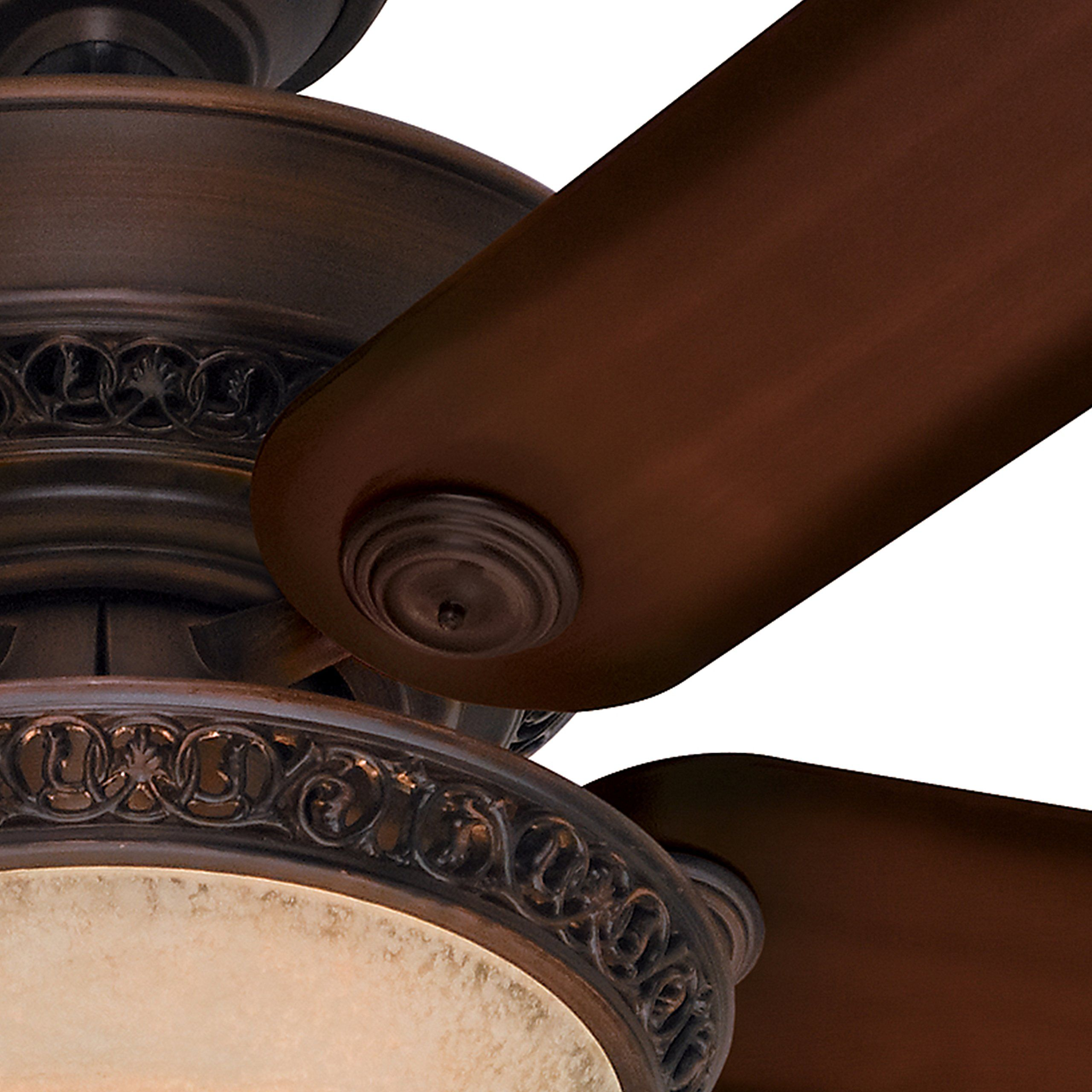 Hunter Fan 52 Traditional Cocoa Ceiling Fan With An Amber Scavo Glass Light Kit 5 Blade