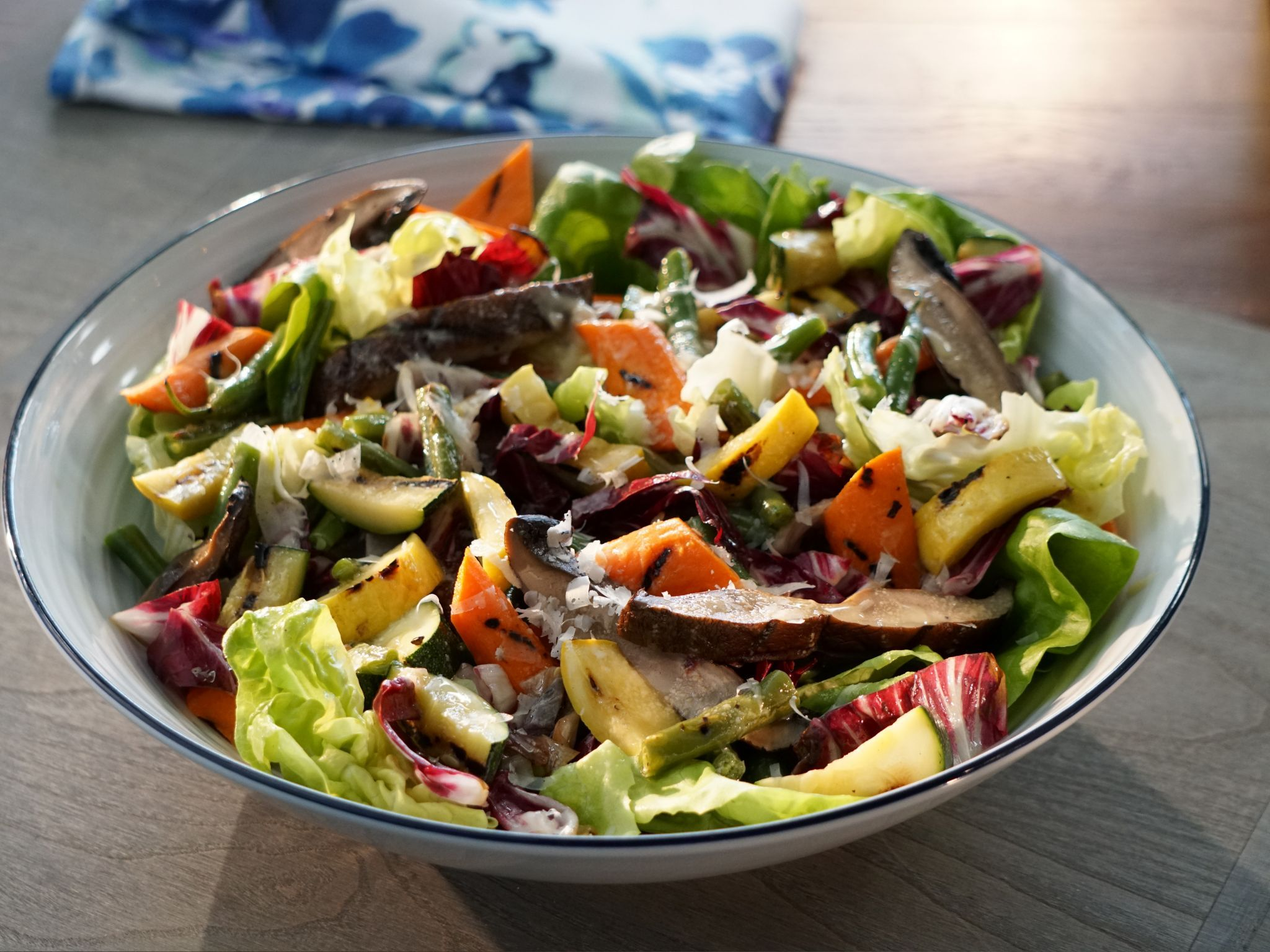 Grilled Chopped Vegetable Salad #valeriebertinellirecipes