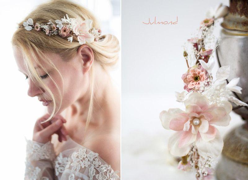 Brautkranz Blumen Hochzeit Haarkranz von Julmond auf