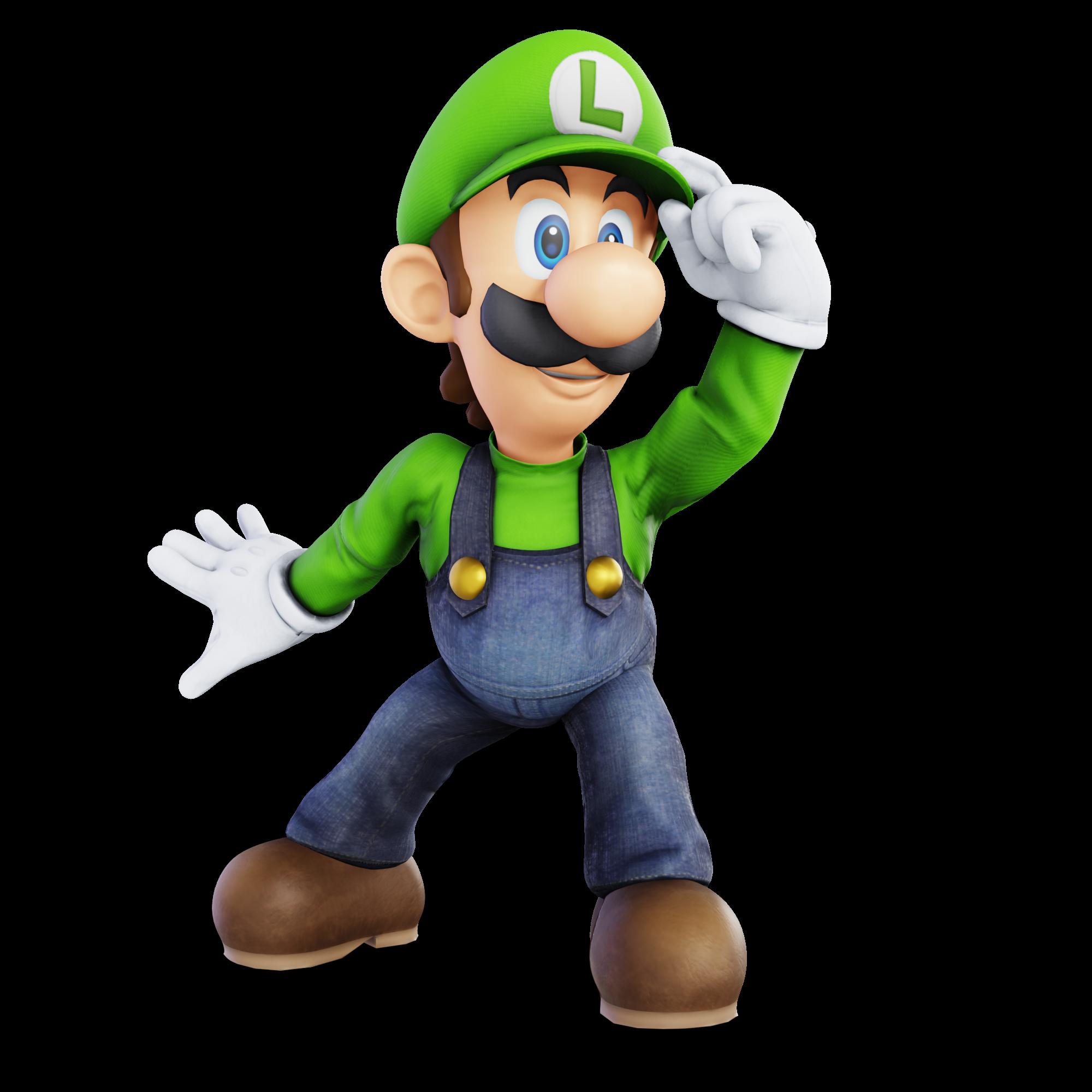 Luigi Melee Render Remake By Unbecomingname On Deviantart Luigi Super Mario Bros Mario And Luigi