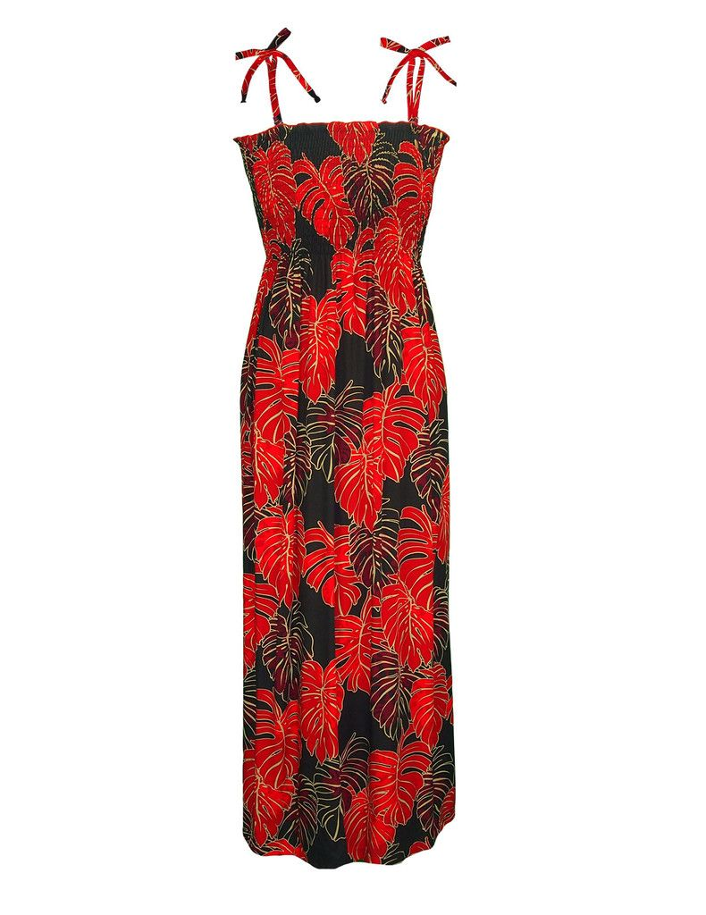cfa2ccb8ab76 Big Island Lava Long Tube-Top Spaghetti Dress #RJ-W351O-XM | Woman's ...
