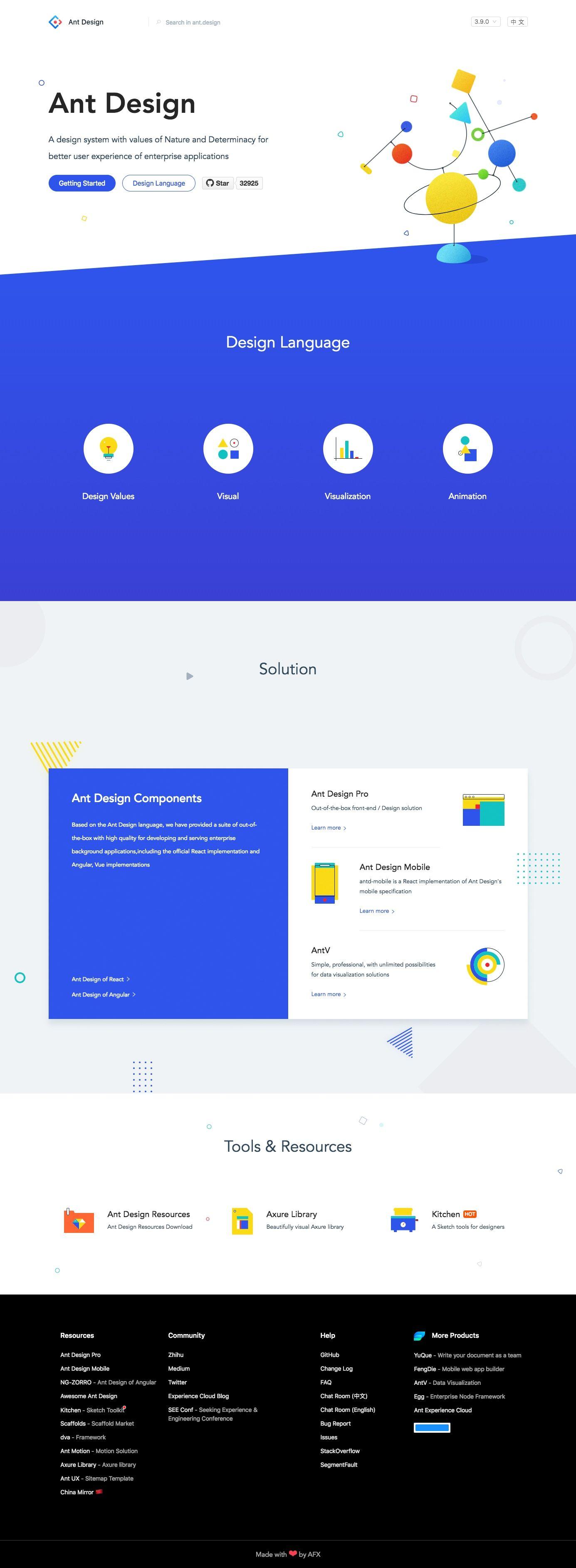 ant design landing page design inspiration web design quotes