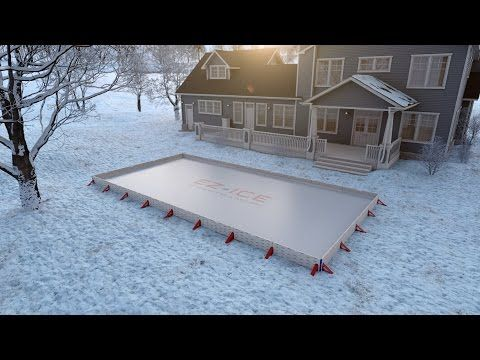 Backyard Ice Hockey Rink | Premium Home Ice Skating Rink Kit   EZ ICE |  Next Project | Pinterest | Ice Hockey Rink
