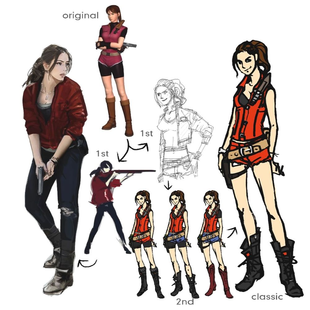 Claire Redfield Concept Artwork From Resident Evil 2 2019 Art Artwork Gaming Videogames Gamer Resident Evil Girl Resident Evil Collection Resident Evil