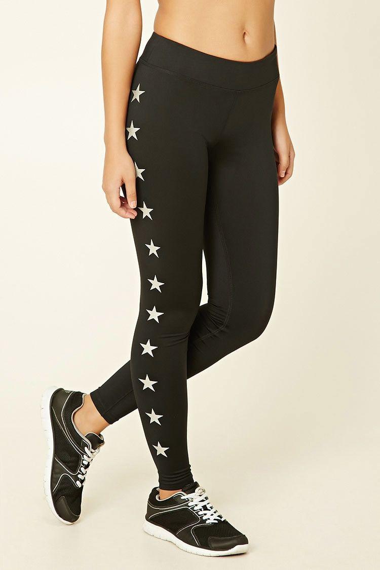 fdc0e14c36 Active Star Print Leggings