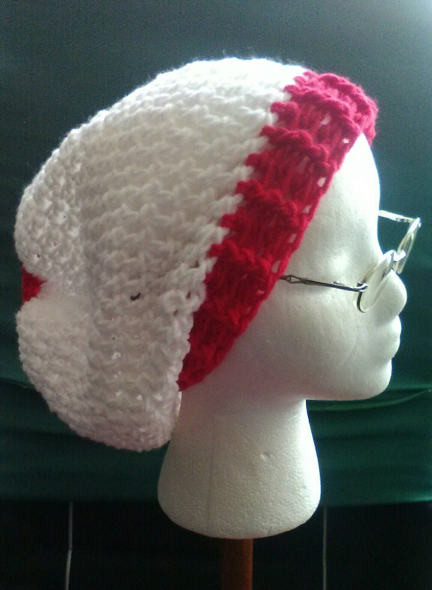 Where\'s Waldo Hat, Red & White Crochet Slouchy Beanie, Christmas ...