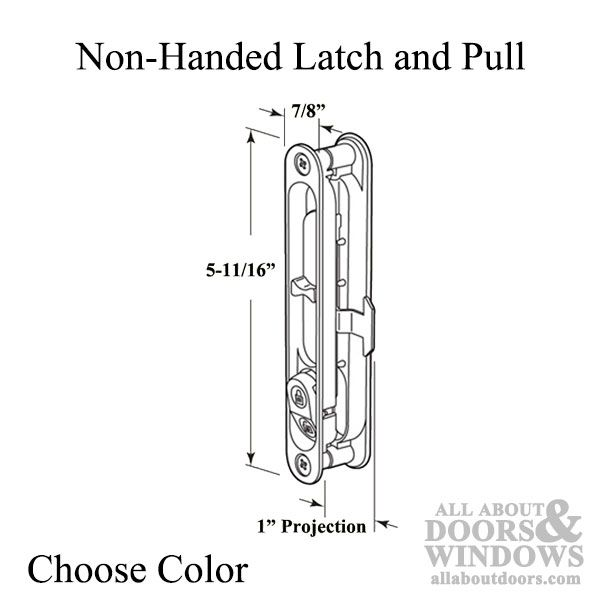 Non Handed Latch Pull For Sliding Screen Door Choose Color