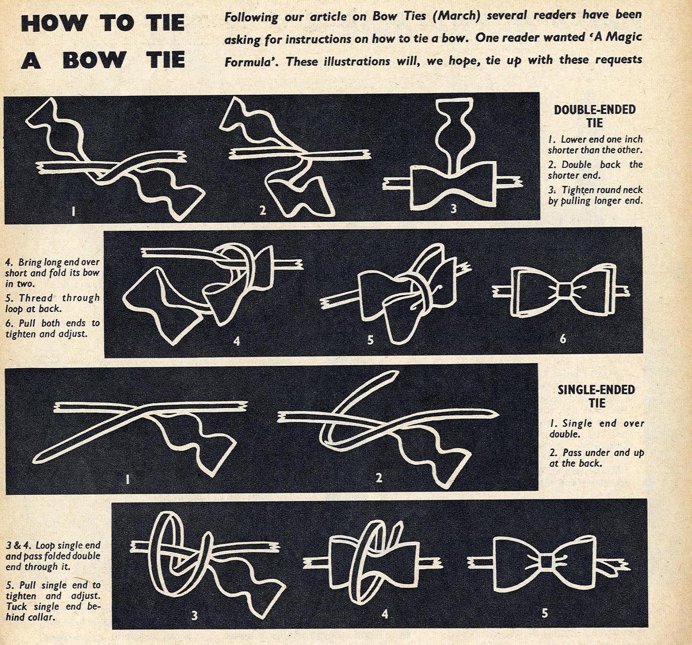 17 B�sta Bilder Om Bow Tie Instructions P� Pinterest Bill Nye, Flugor Och  Slipsar