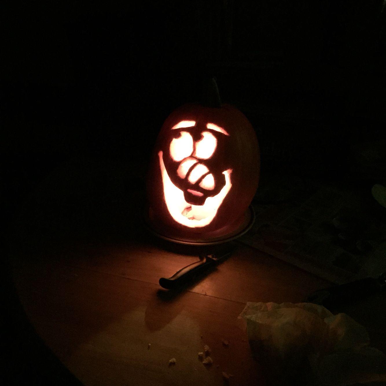 Olaf Pumpkin Carving