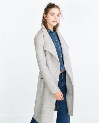 1bd9add5058e MANTEAU EN LAINE-Manteaux-Manteaux-FEMME   ZARA France   Mode