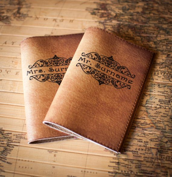 Couples, Mr & Mrs, Passport Cover, Leather Passport Cover