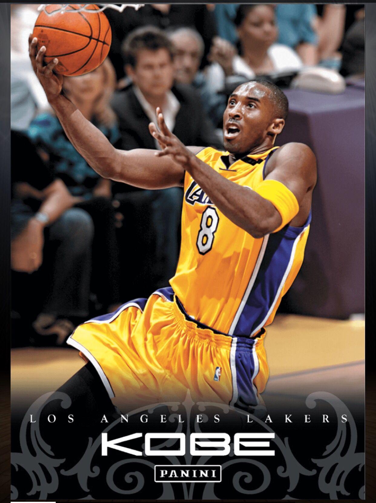 Kobe Bryant Los Angeles Lakers 78 Kobe Anthology Card 2015 2016 Panini Dunk Los Angeles Lakers Basketball Cards Lakers