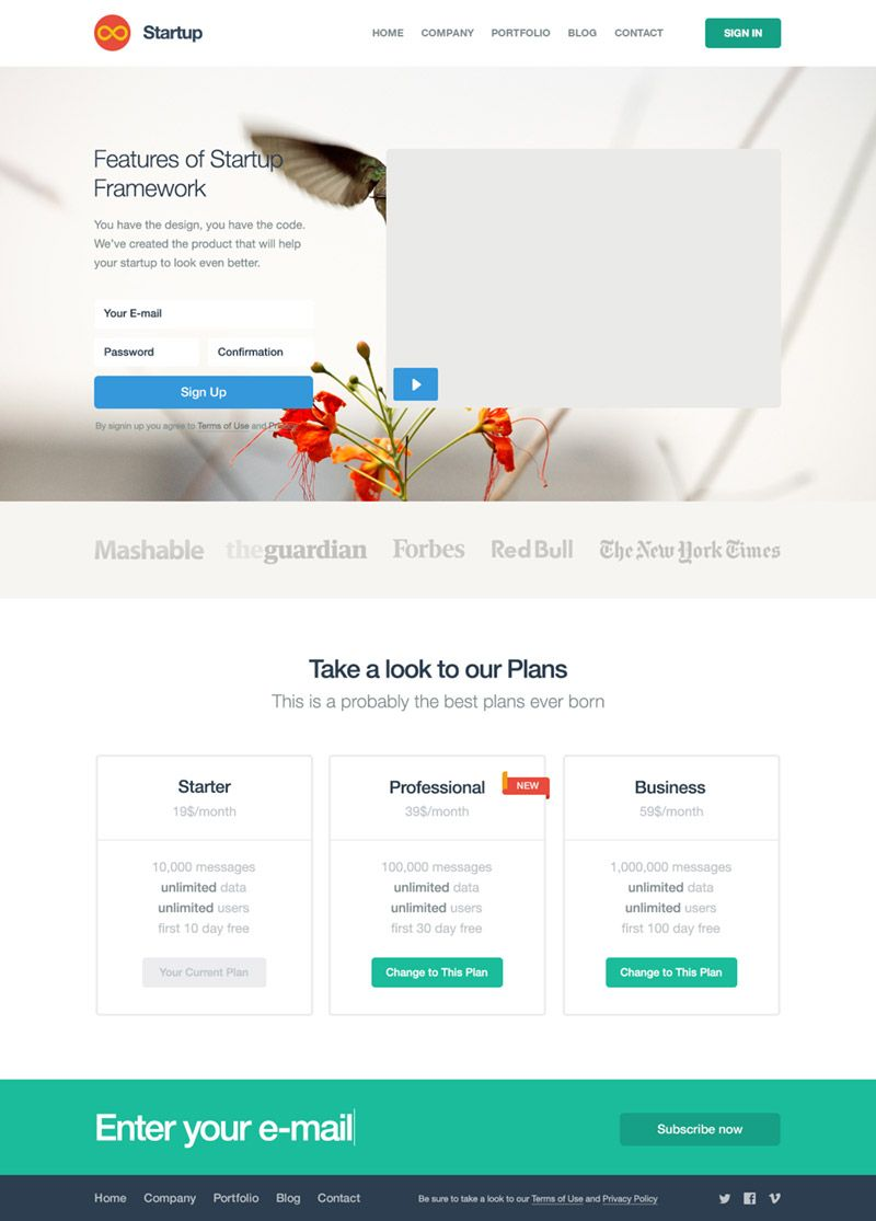 Startup Free Bootstrap Builder for Templates & Themes