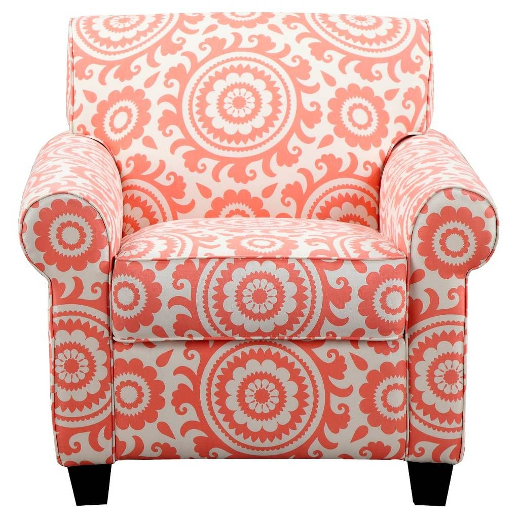 Handy Living Upholstered Chair Coral. Image 1 Of 4.