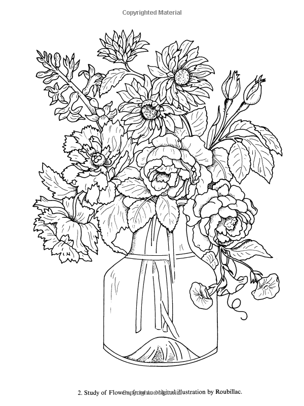 Robot Check Flower Coloring Pages, Coloring Books, Coloring Pages