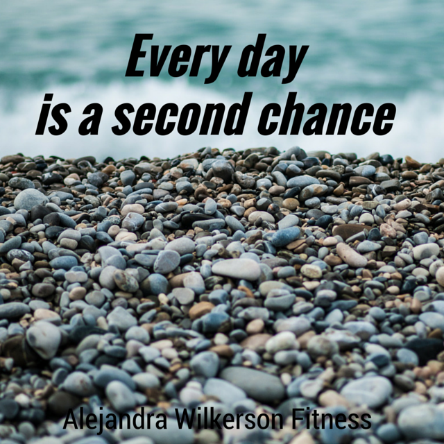 I woke up this morning feeling thankful about my second chance. I don't want to waste my second chance. Second chances are precious! smile emoticon