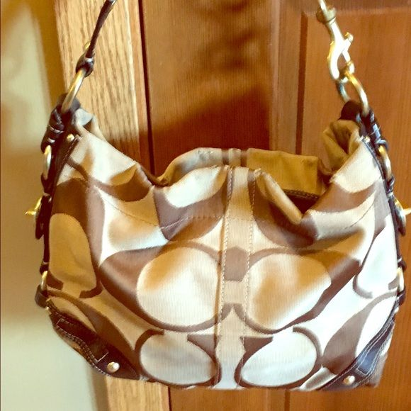 Coach purse Single strap with zipper on opening. Some wear along zipper at top. Coach Bags