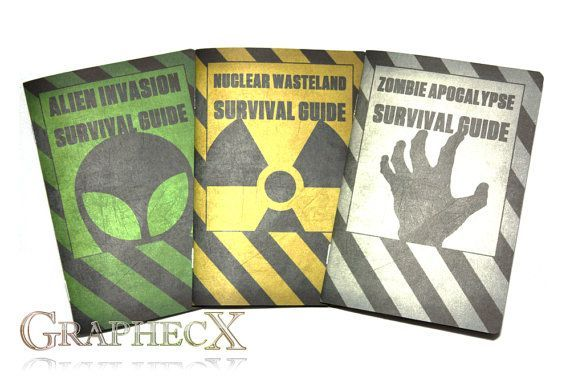 Survival Guides: Zombie Apocalypse, Nuclear Wasteland, Alien Invasion. Personalized Notebook Journal #zombieapocalypseparty Survival Guides: Zombie Apocalypse, Nuclear Wasteland, Alien Invasion. Personalized Notebook Journal #zombieapocalypseparty
