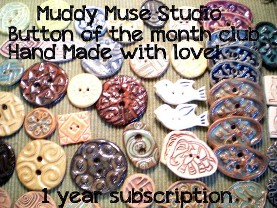1 year subscription Muddy muse studios button of the by muddymuse