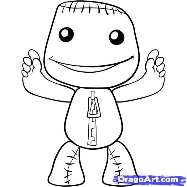 little big planet coloring pages to print