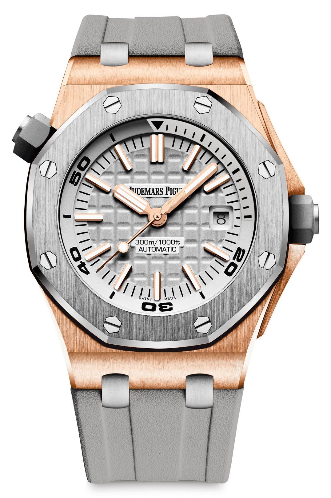c4f488f10cb The Audemars Piguet Royal Oak Offshore Diver In Pink Gold And Grey Ceramic