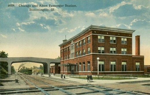 100 Years Of Bloomington Normal Railroad Stations Railroad Station Bloomington Railroad History