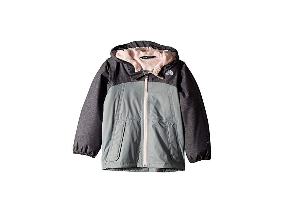 b1bbbff05890 The North Face Kids Warm Storm Jacket (Toddler) (Periscope Grey Heather)  Girl s Coat. Stay dry on your next wilderness adventure!