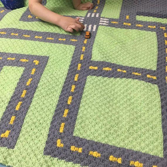 INSTANT DOWNLOAD Road Crochet Graph Crochet Pattern   Mantas ...
