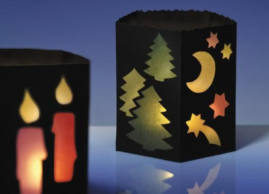 Windlicht Aus Pappe Und Transparentpapier