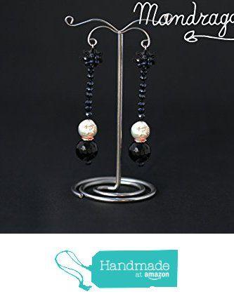 Orecchini lunghi con perla e pietra onice da Gioielli Mandragora https://www.amazon.it/dp/B01LZCL9KL/ref=hnd_sw_r_pi_dp_30ZpybT4AMNR5 #handmadeatamazon