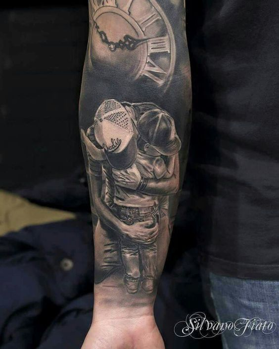 Top Vader zoon | tattoo - Tattoos, Father tattoos en Family tattoos &XG89