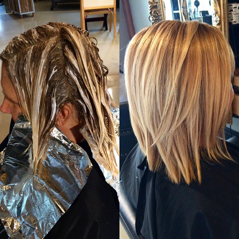 Painting Haare Blond