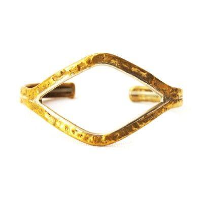 TOSCA - Indian diamond shape brass cuff bracelet   © VELINA