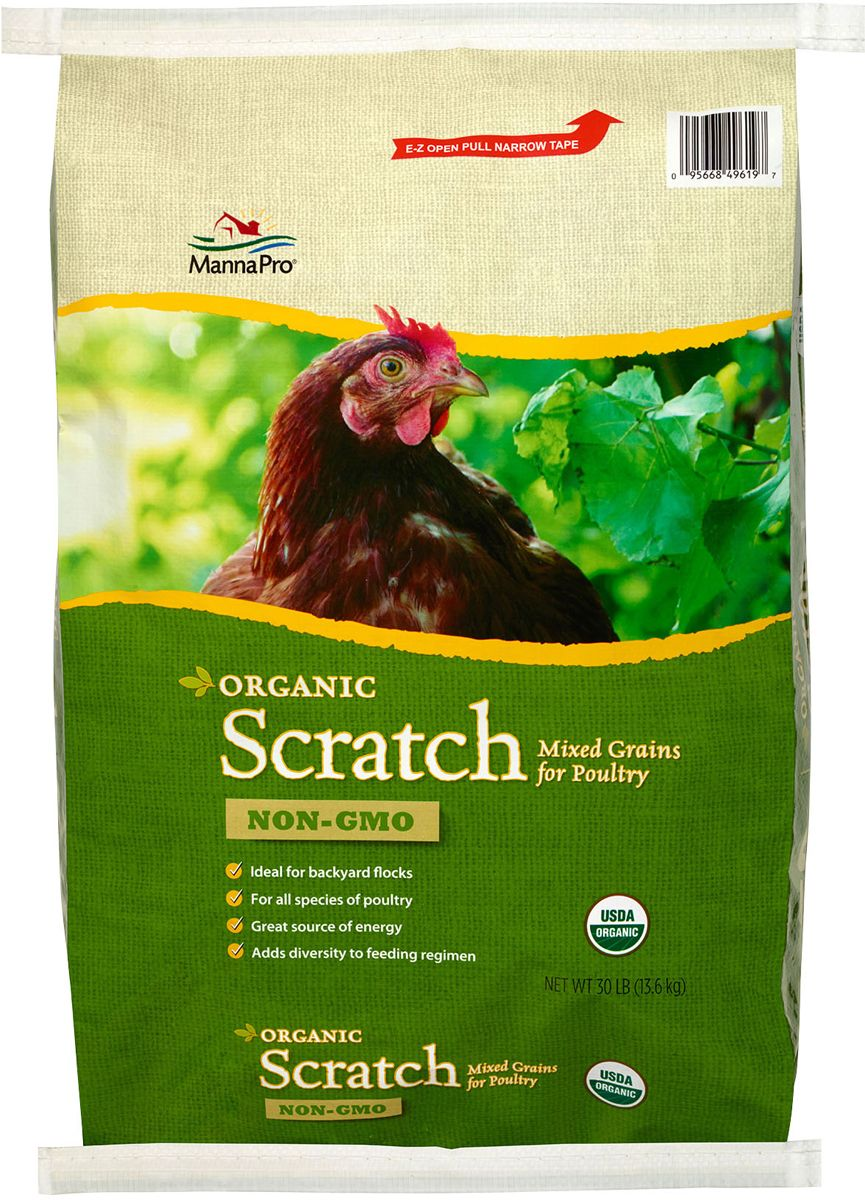 organic scratch grains for poultry 30 lb poultry and products