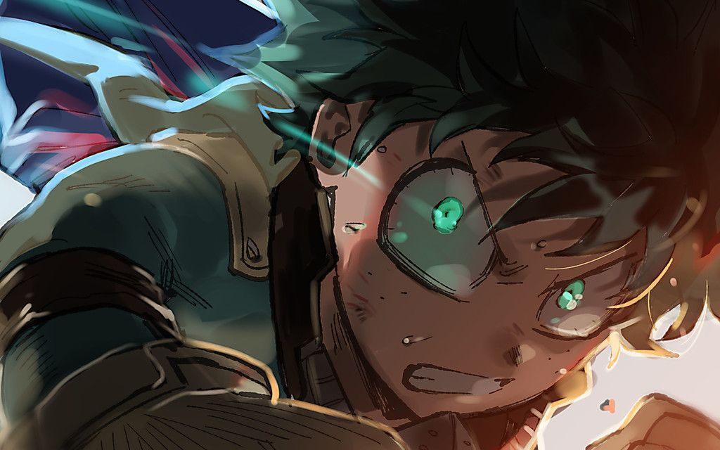 Izuku Midoriya Anime Boy My Hero Academia Face Wallpaper