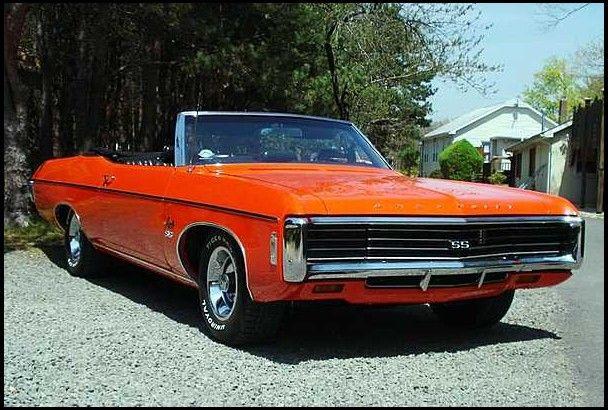 1969 Orange Impala Ss 427 Convertible Chevy Chevelle