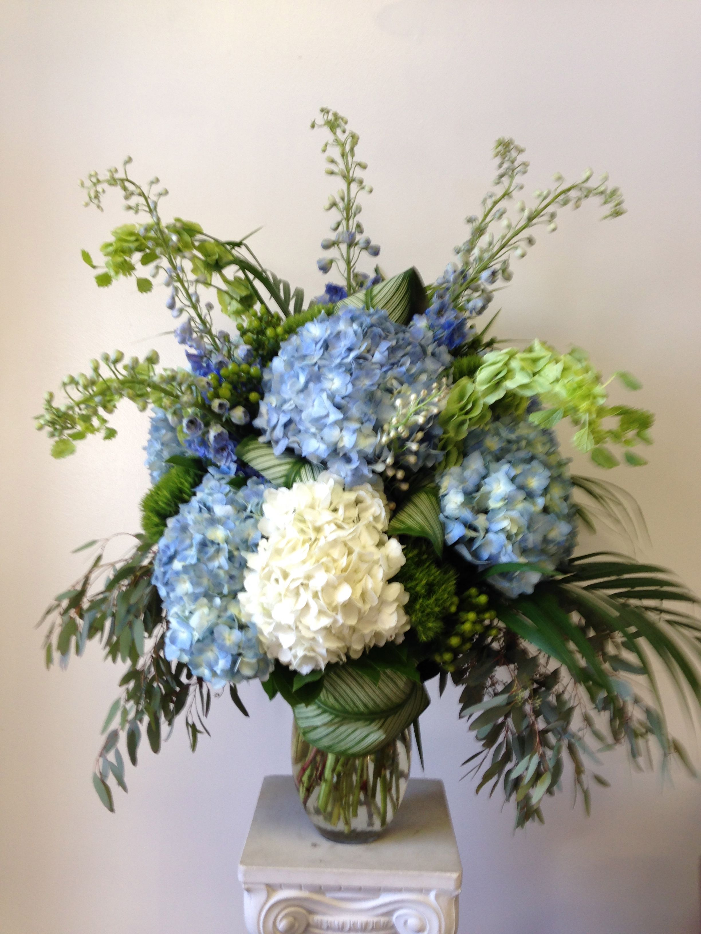 hydrangea & blue delphinium - Love In Bloom, Key West