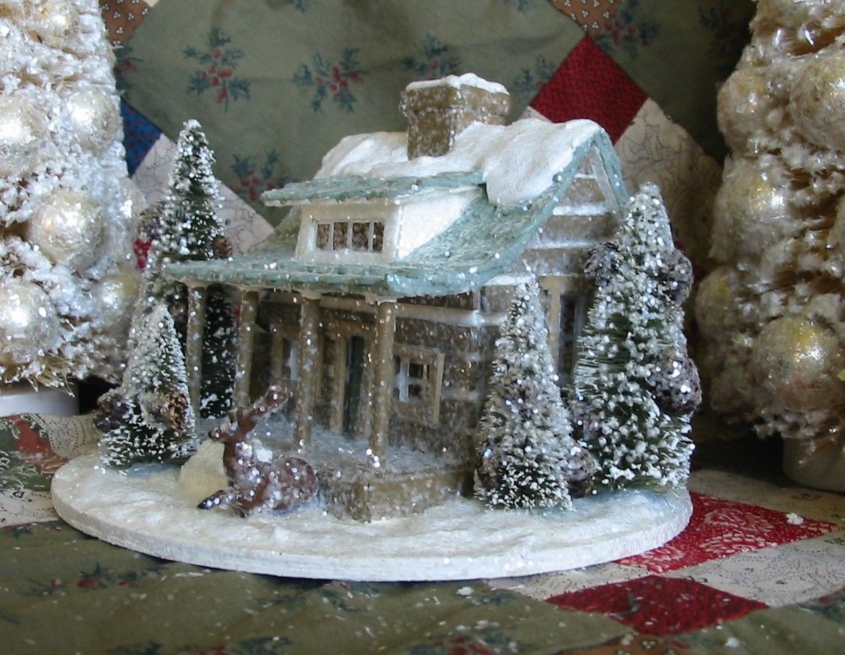 Putz holiday house by DeeDeeBean | Putz houses | Pinterest | House ...