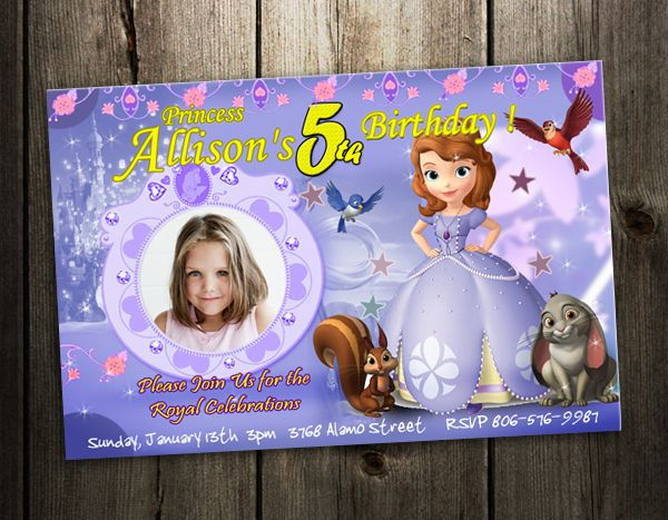 sophia the first invitations – Custom 1st Birthday Invitations