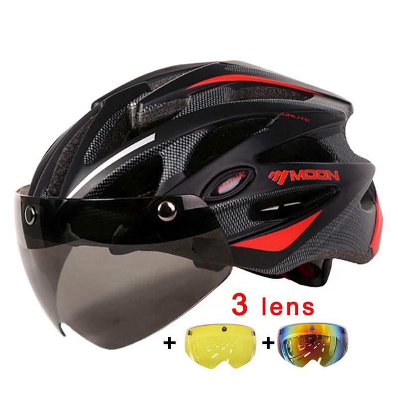 MAAN Magnetische Goggles 275g Fietshelm 25 Luchtopeningen Fiets helm In-mold Lens Fietshelm Mannen Vrouwen 55-61 CM Casco Ciclismo